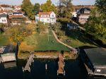 Villa Blanck und der Garten aus der Luft